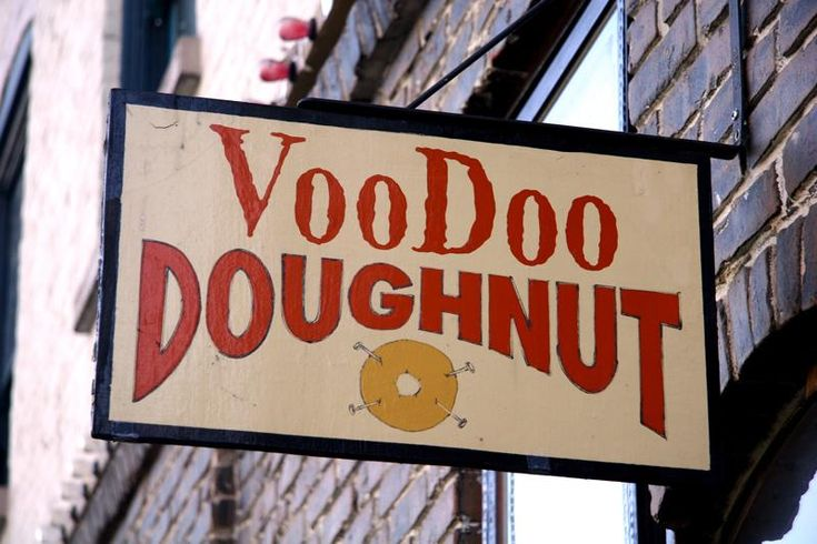VooDoo Doughnut shop in Portland, Oregon.