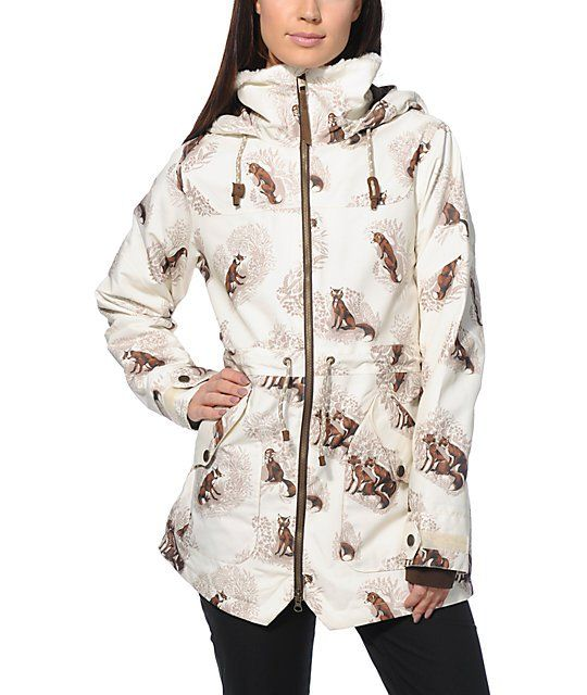 7060af3f0 This fox print snowboard jacket comes equip with everything you need ...