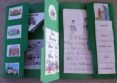 Knights and castles lapbook and unit study ~ this goes perfectly with The Magic Tree House: Knight Before Dawn.