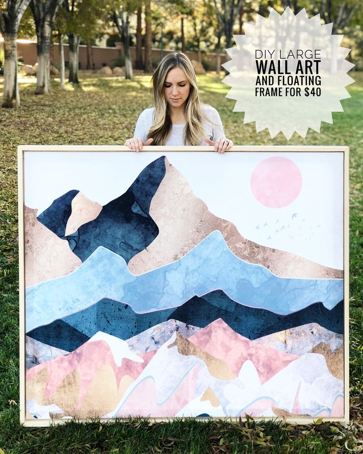 DIY Large Wall Art and Floating Frame