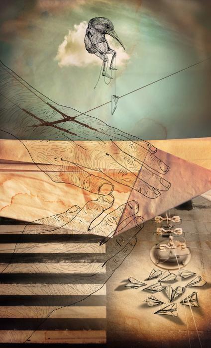 Un'illustrazione immaginaria di un ricordo sospeso nel tempo di Golsa Golchin http://www.premioceleste.it/opera/ido:287478/