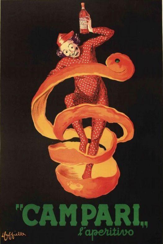"""By Leonetto Cappiello, 1920, """"Campari l'aperitivo""""."""