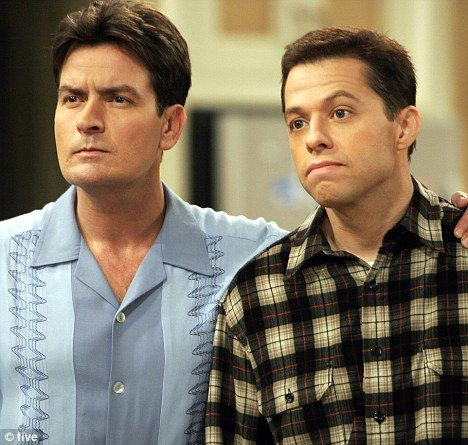 Two and a Half Men with Charlie Sheen...NOT Ashton Kutcher!