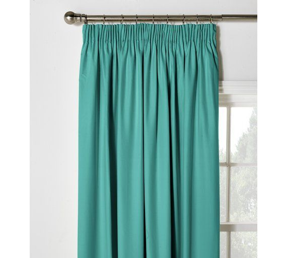 Buy ColourMatch Blackout Pencil Pleat Curtains- 168x183cm - Teal at Argos.co.uk, visit Argos.co.uk to shop online for Curtains, Blinds, curtains and accessories, Home furnishings, Home and garden