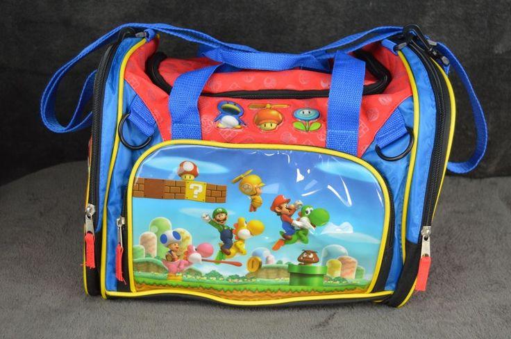 Super Mario Bros Wii Duffle Bag Gym Bag Nintendo  Yoshi Luigi  Nintendo EUC #DuffleGymBag #supermariobros #nintendo #mario