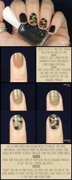 Camo redneck nails