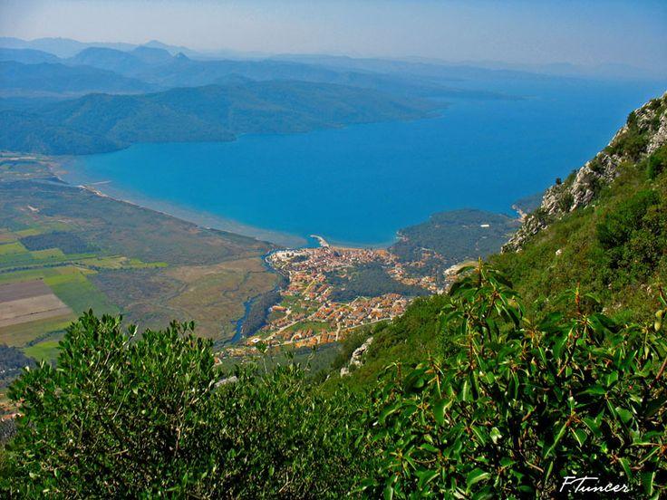 view of Akyaka from Sakar Seyir Tepesi