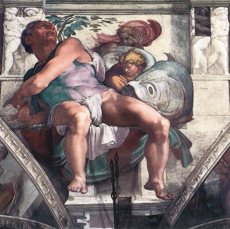 MICHELANGELO GAY   | Jonah by Michelangelo, Sistine Chapel 1511