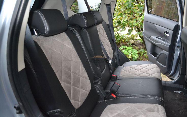 Mitsubishi Outlander Modell 2015 Autositzbezüge nach Maß Designvarianate Lederlook gesamt mit Rautenmuster eingearbeitet. #designbezuege, #designbezuege nach maß #Tuning, #Stickerei, #MITSUBISHI, #Leder, #Autositzbezüge, #Outlander, #Rautenmuster