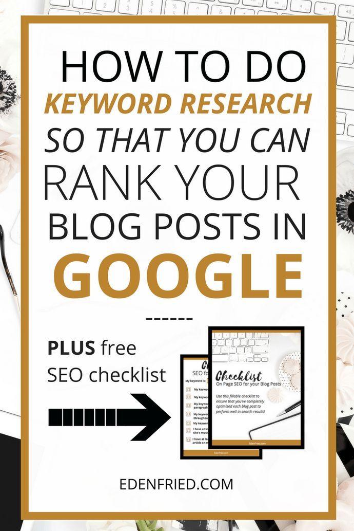 How to Do Keyword Research for Blog Posts - EdenFried.com