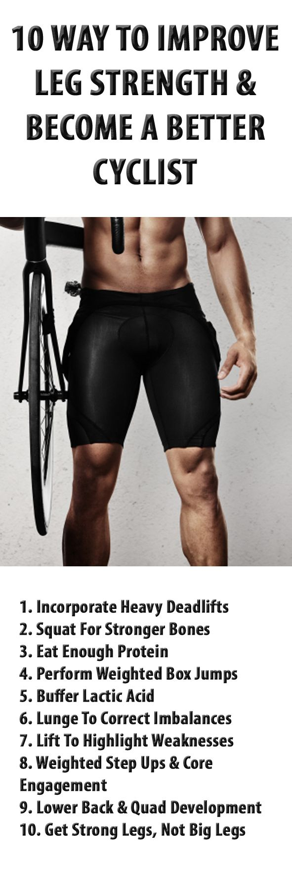 10 ways to improve leg strength in general, not just for cyclists.