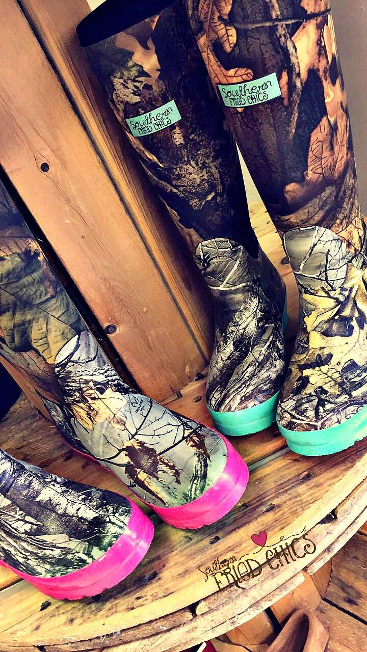 Pretty In Camo Boots $59.99! Pre-order! #sfc #camo #hunting