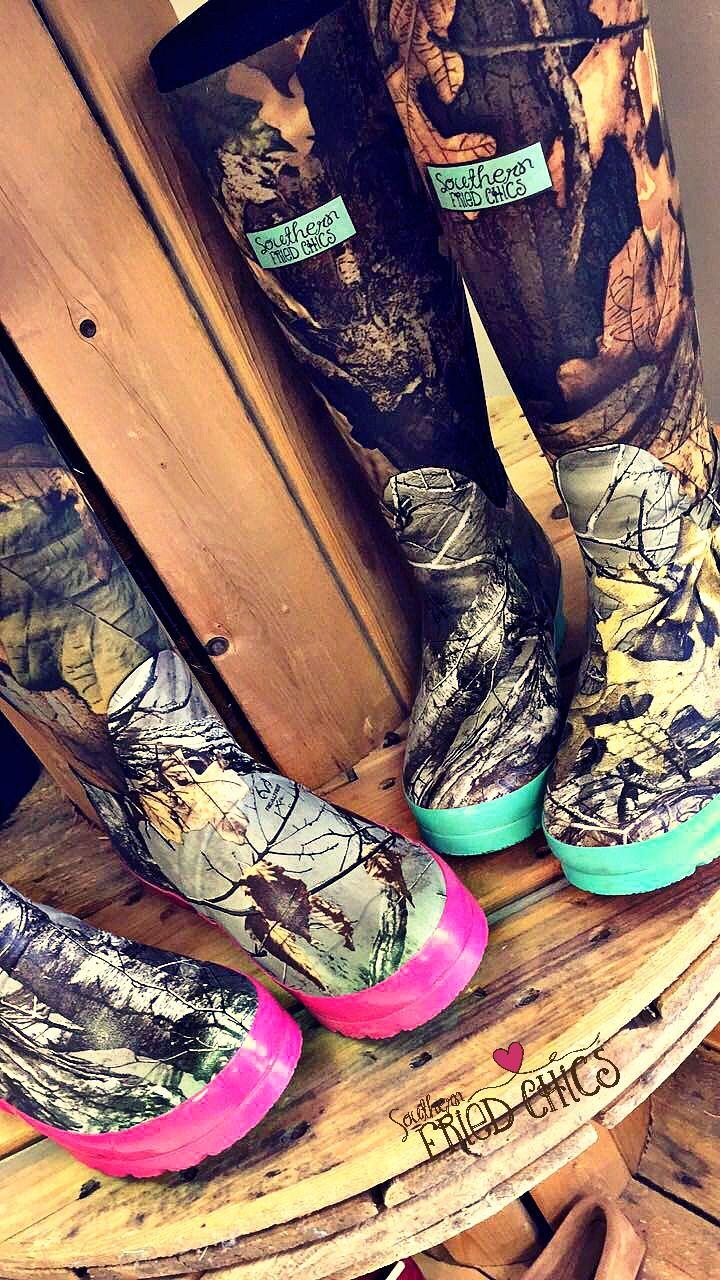 Pretty In Camo Boots $59.99! Pre-order! #sfc #camo #hunting