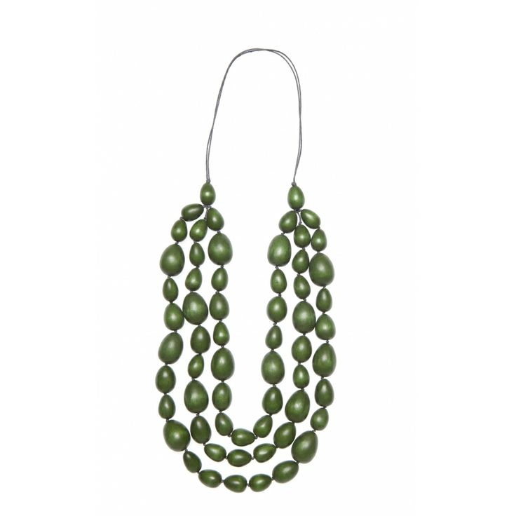 Elk Accessories - Collections - Winter Jewellery - 3 Strand Statement Piece in Spinach #lifeinstyle #greenwithenvy