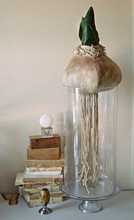 Textile bulb on vase By Mister Finch.... so cool!