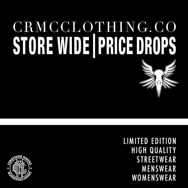 We've price slashed all of our products! | Shop now at www.crmcclothing.co ✌️ Limited edition streetwear | Once it's gone, it is gone! #alt #altwear #altfashion #altstyle #alternative #alternativefashion #alternativestyle #fashion #fashionstatement #fashiongram #fashionista #lastchance #dark #darkwear #fashionoftheday #dailyfashion #fashionoftheday #summer #summertime #skatewear #streetwear #streetwearclothing #alternativeguy #alternativeboy #blackwear #wearblack #iloveblack