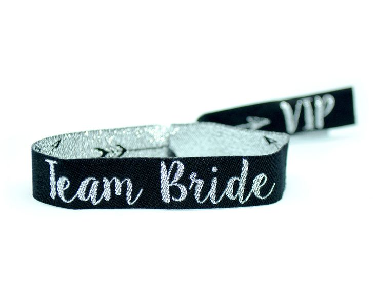 team bride silver black hen party wristbands http://www.wedfest.co/silver-black-team-bride-bride-tribe-hen-party-wristbands/