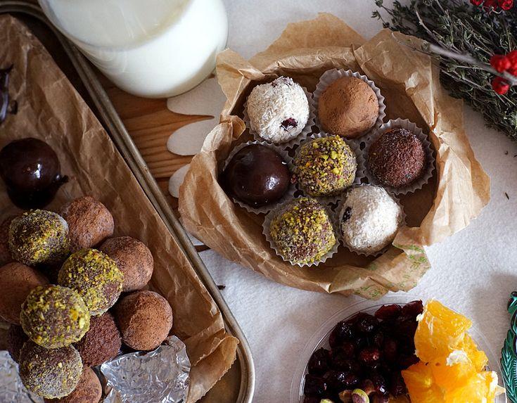 * Čokoládovo karamelové lanýže s rumem | Veganotic