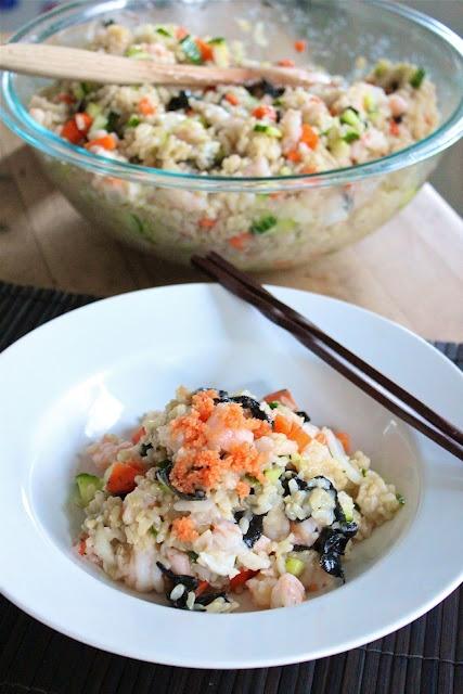 Sushi Salad use cauliflower instead of rice!!