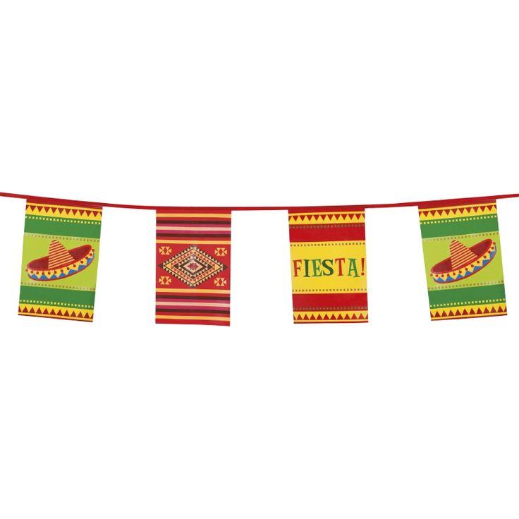 Fiesta flaggline - Dekor til mexico fest | Festmagasinet Standard