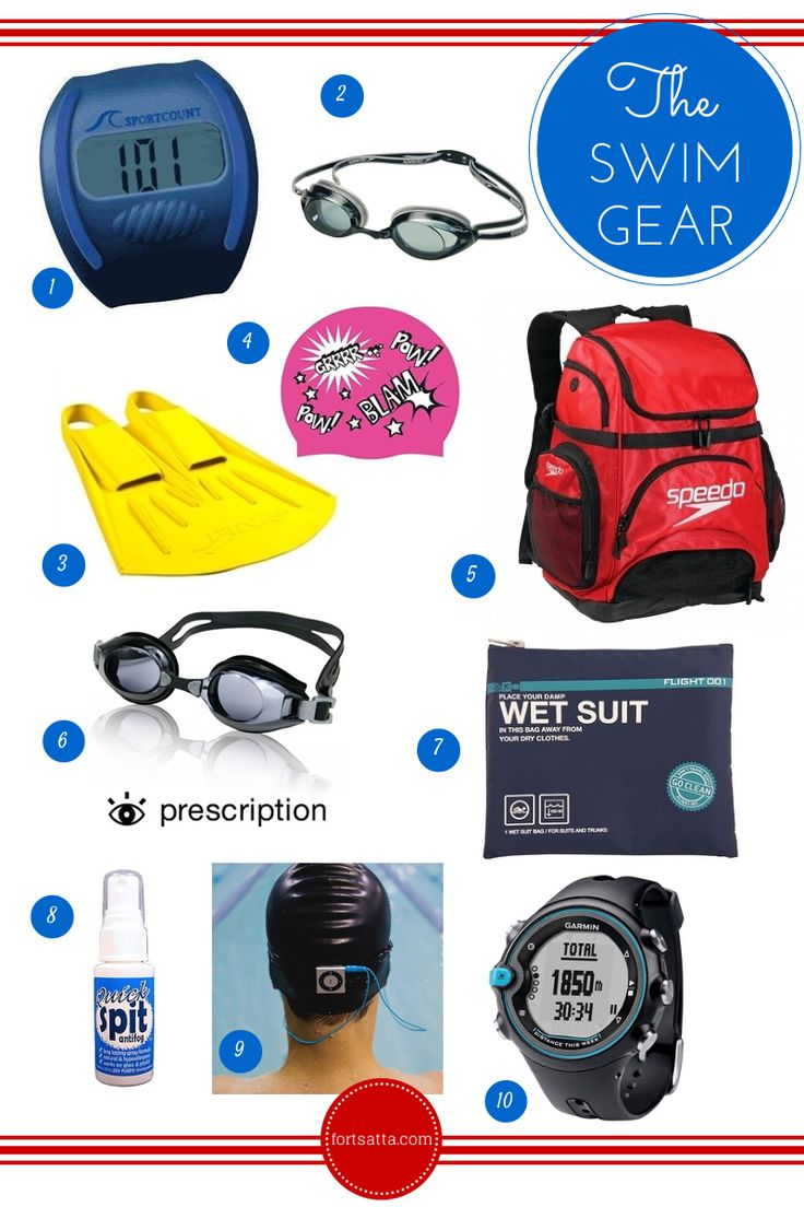 Swimming gear that helps get the most out of your workouts. From low tech, low cost to splurge items they'll help you enjoy and enhance your swim.