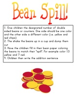 Spill the beans - Simple addition math game that build addition fluency.