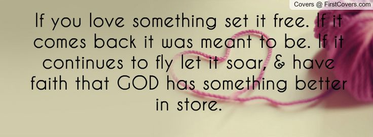 If You Love Something Set It Free. If It Comes Back It Was