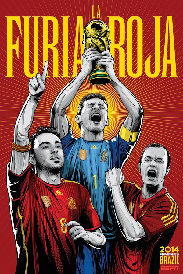 These 2014 World Cup Posters Depict the Star Players of Each World Cup Team #worldcup2014 #worldcup trendhunter.com