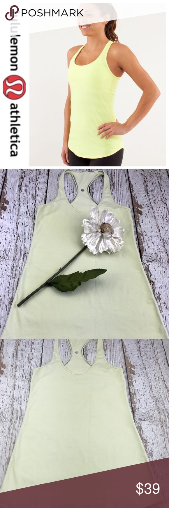 💕SALE💕Lululemon Yellow Cool Razorback Tank Top Fabulous 💕Lululemon Yellow Cool Razorback Tank Top size has been removed lululemon athletica Tops Tank Tops