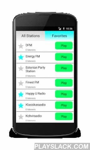 Estonian Radio Online  Android App - playslack.com ,  Listen to Estonia Radio completely free! Many radio stations with different music genres like pop, rock, electro, dance, electro, hip hop, disco, RnB and classic. Examples of stations are:- Vikerraadio- Klassikaraadio- Raadio Tallinn- Russkoe Radio- Star FM- Power Hit Radio- Energy FM- Sky Plusand others. If you like estonian, russian and international music, this is the best app for you!