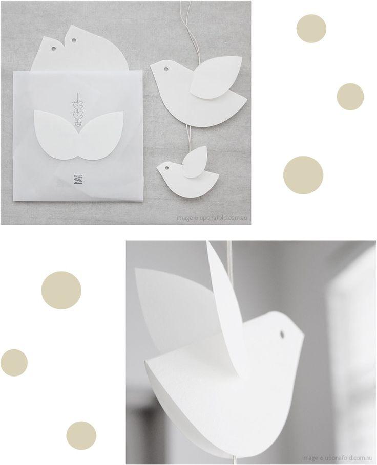 Floaty japanese paper birds