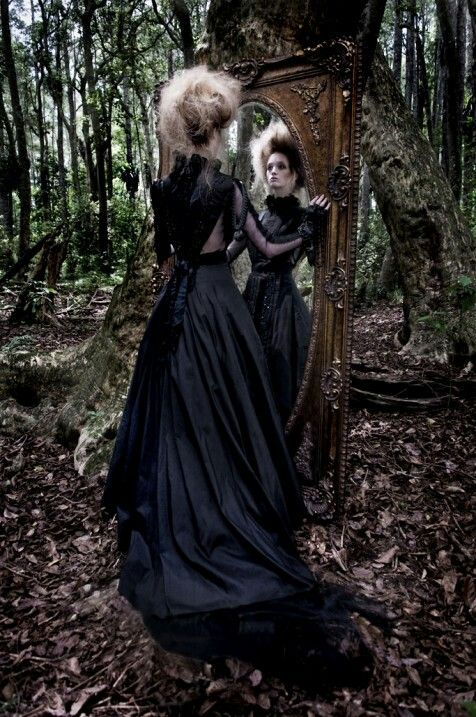 Would be cool to set up mirrors and some old furniture in the woods for a spooky place to reside