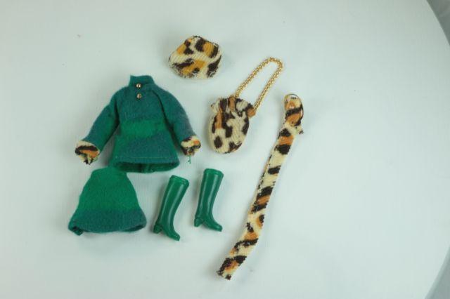 "Complete Green Felt Cheetah Outfit to Cindi Joy 6 ½"" Doll Vintage Dawn Clone    eBay"