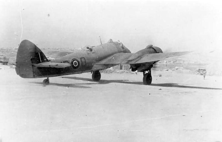 Bristol Beaufighter Mk IC No 235 Squadron RAF Detachment preparing to taxy at Ta Kali Malta June 1942