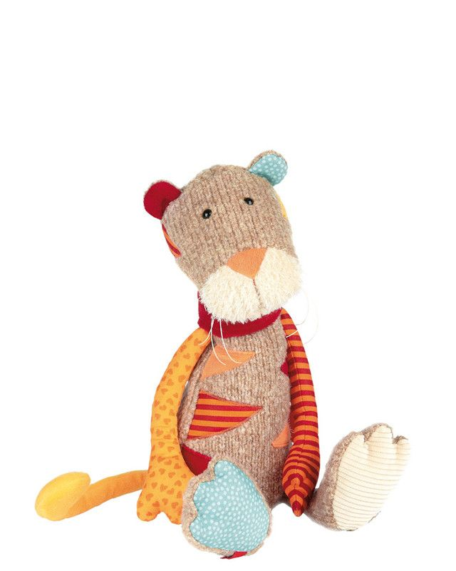 Seeking a faithful companion to play, cuddle and have fun with. The cheerfully colorful Sweety tiger is ready to cuddle its way into every child's heart – and can also take a seat thanks to the bead f