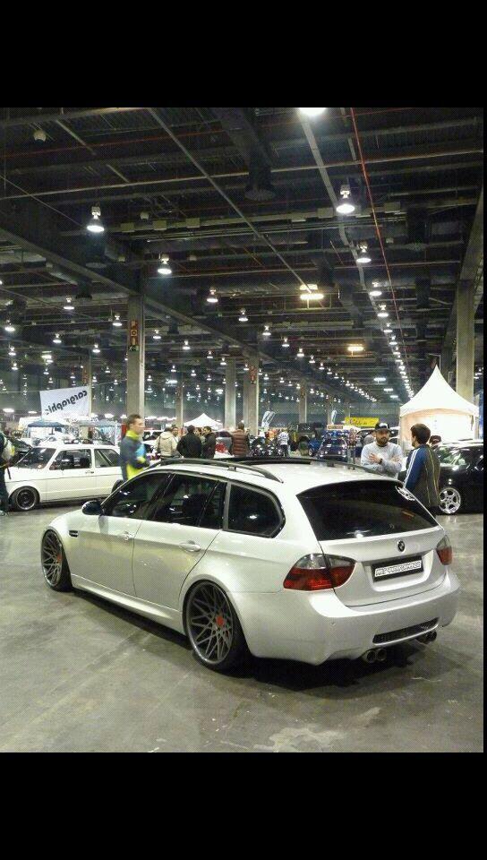 BMW wagon.