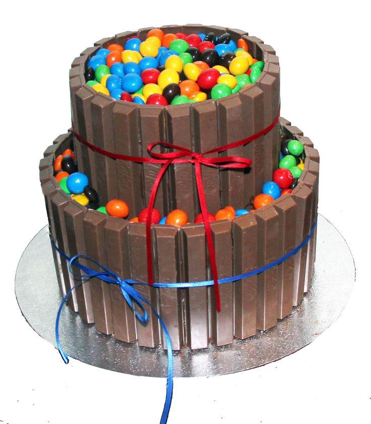 Kit Ka & M&M's Cake Like us at www.facebook.com/melianndesigns