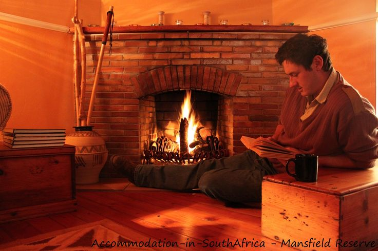 Relax and unwind at the cosy fire place at Mansfield Reserve. Accommodation at Mansfield Reserve.