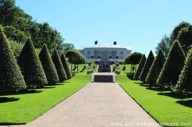 MÖLNDAL: Gunnebo Slott é uma residência de verão construída no final de 1700 por uma família não nobre. A casa principal tem 900m2  e possui 25 quartos.