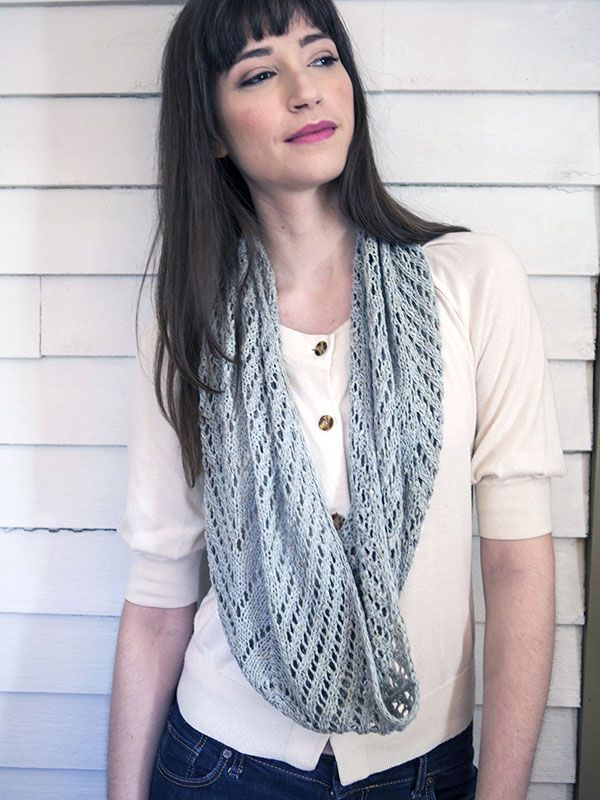 Align Lace Cowl Free Knitting Pattern Summer wear, Adobe and Spring