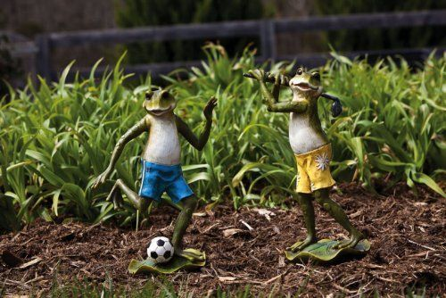 2 Assorted Sporting Frogs By Outdoor Decor 59 99 8 75 400 x 300