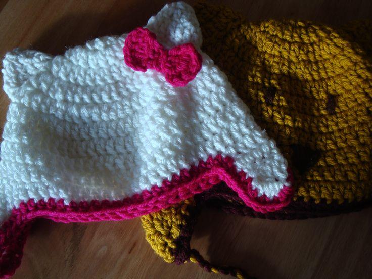 Gorros infantiles a crochet