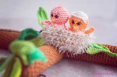 Frühlingszweig mit Vögel häkeln - Gratis Anleitung!