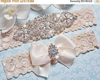ON SALE Petite / Plus Size Garter Belt, wedding garter set, bridal garter, bridal  lingerie, ivory garter, ivory wedding garter, garter, pro