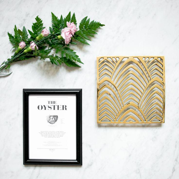 Palm beach trivet in brass