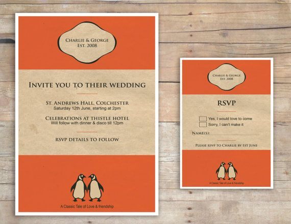 Penguin Book Cover Wedding Invitation Template : Best images about wedding partecipazioni book on