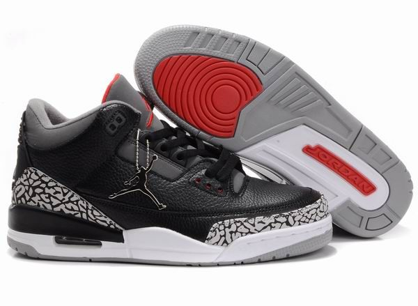 best service 4f263 ab17f Wholesale Air Jordan 3 Retro Black White Cement Grey, which is one of the  full series of Nike Air Jordan 3 Shoes with cheap price and high qualiy.