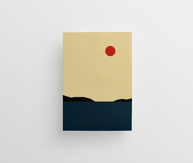 <p>Could they get any simpler? Love these Minimalist landscape illustrations by Polish graphic designer Jaroslaw Morawski. Two or three colors only and very simple shapes for a very visual results!  &
