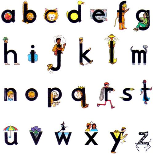 Letterland alphabet: My boy learns these at school.. Really great!