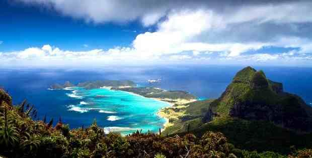 Lord Howe Island, Australia This beautiful island is mostly untouched by man, with a tiny native population and only 400 tourists being allowed to visit each year. The limit is in place to protect the amazing natural landscape of Howe Island, which is home to a beautiful crystal lagoon and coral reef.